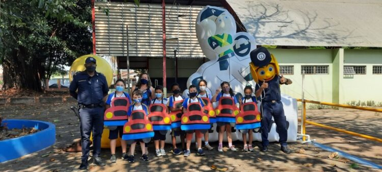 Segurança Pública realiza atividades da semana do trânsito na Escola Rodrigo