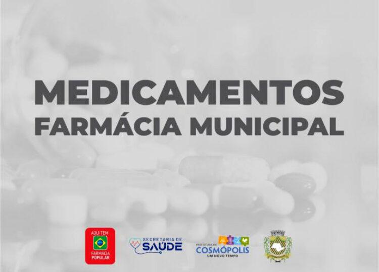 Medicamentos disponíveis na Farmácia Municipal