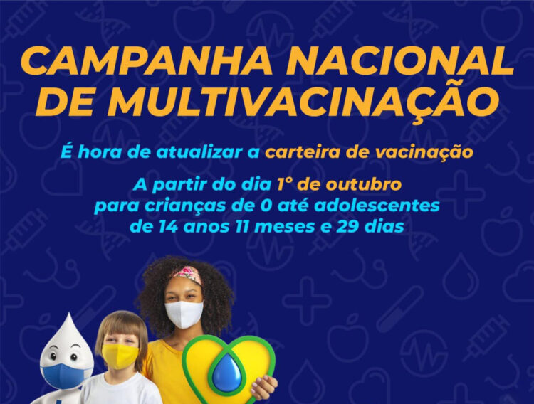 Saúde inicia campanha nacional de multivacinação