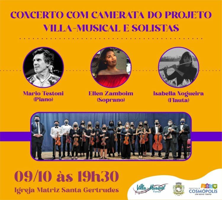 Concerto da Camerata e Solistas acontece neste sábado (09)